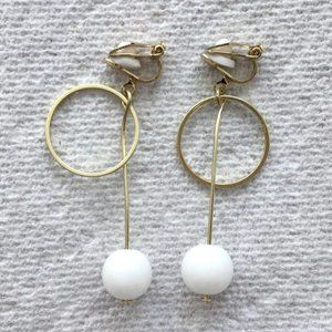 Statement Drop Clip-On Earrings with Hoop Detail